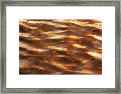 Marbleized Waters Framed Print