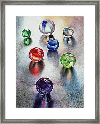Marbles 1 Framed Print