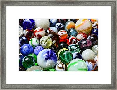 Marbles All That Color Framed Print by Paul Ward
