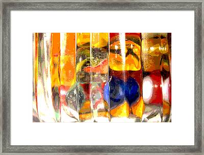 Framed Print featuring the photograph Marbles In A Glass Bowl by Mary Bedy