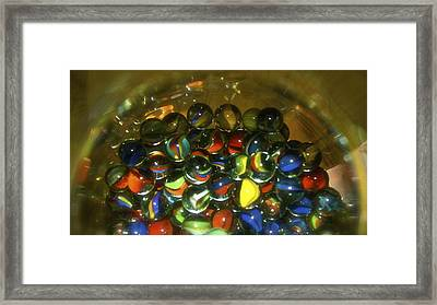 Marbles Framed Print by Roseann Errigo