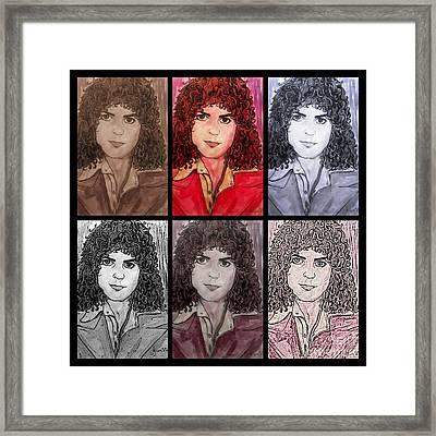 Marc Bolan Glam Rocker Collage Framed Print