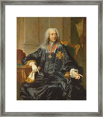 Marc-pierre De Voyer-de-paulmy 1696-1764 Count Of Argenson Oil On Canvas Framed Print by Hyacinthe Rigaud