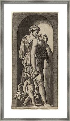 Marcantonio Raimondi After Raphael Italian Framed Print by Quint Lox