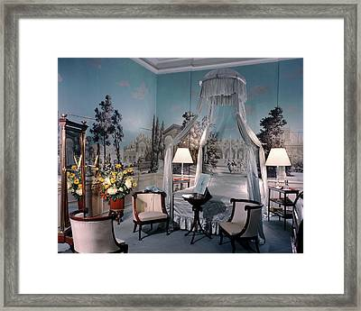 Marcel Rochas' Bedroom Framed Print by Andre Kertesz