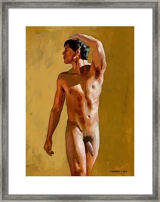 Marcelino Nude Framed Print by Douglas Simonson