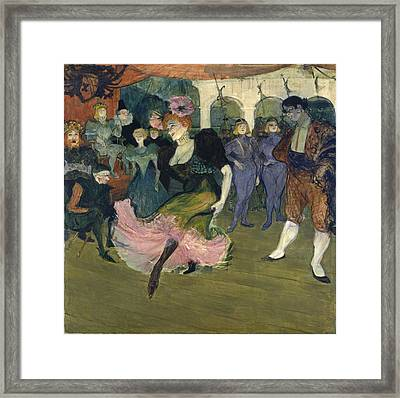 Marcelle Lender Dancing The Bolero In Chilperic Framed Print by Henri de Toulouse-Lautrec