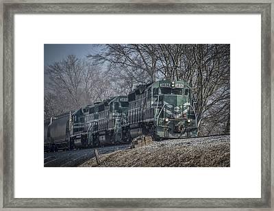 March 11. 2015 - Evansville Western Railway At Mount Vernon Indiana Framed Print