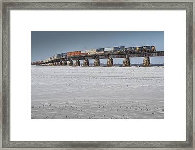 March 7. 2015 - Csx Q029 At Rahm Indiana Framed Print