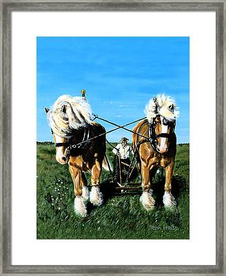 Framed Print featuring the painting March Break by Ron Haist
