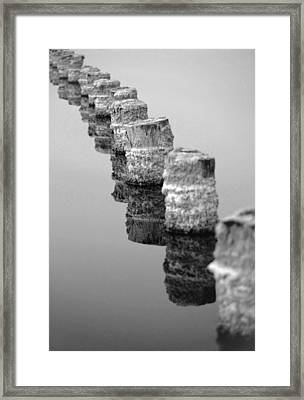 March I Say Black And White Framed Print