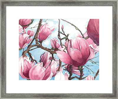 March Magnolia Framed Print