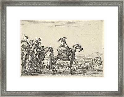 March Of An Army On A Plain Framed Print by Stefano della Bella