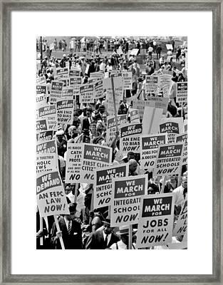 March On Washington Framed Print