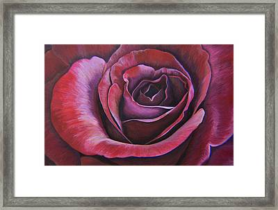 Framed Print featuring the painting March Rose by Thu Nguyen