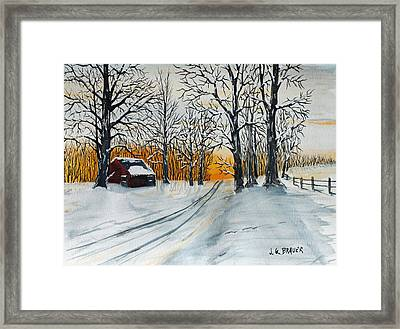 March Shadows Framed Print by Jack G  Brauer
