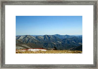 March Snow In The Mountains Framed Print