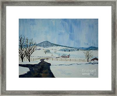 March Snow On Mole Hill - Sold Framed Print by Judith Espinoza