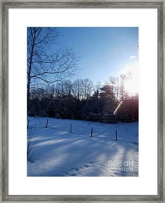 March Sunrise Framed Print by Steven Valkenberg