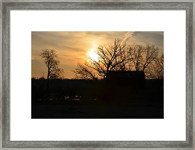 March Sunrise3 Framed Print by Jennifer  King