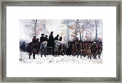 March To Valley Forge  Framed Print by Pg Reproductions