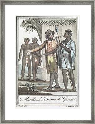 Marchand D' Esclaves De Goree Framed Print by British Library