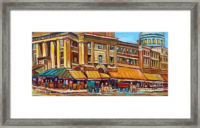 Marche Bonsecours Old Montreal Framed Print by Carole Spandau