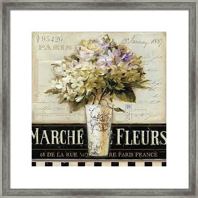 Marche De Fleurs Framed Print by Lisa Audit
