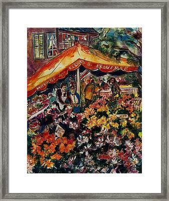 Marche Des Fleurs Framed Print