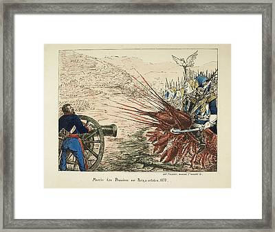 Marche Des Prussiens Sur Paris Framed Print by British Library