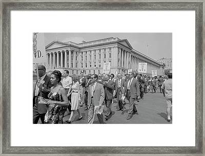 Marchers With Medical Committee Framed Print