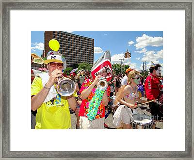 Framed Print featuring the photograph Marching Band by Ed Weidman