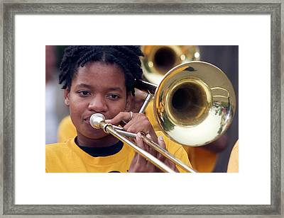 Marching Band Framed Print by Jim West