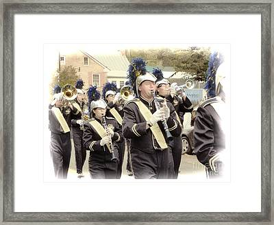 Marching Band - Shepherd University Ram Band At Homecoming 2012 Framed Print