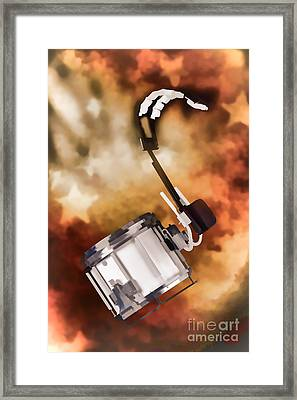 Marching Band Snare Drum Painting In Color 3330.02 Framed Print