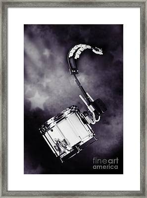 Marching Band Snare Drum Photograph In Sepia 3329.01 Framed Print