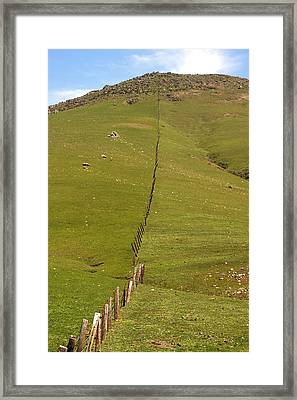 Marching Fence Framed Print by Art Block Collections