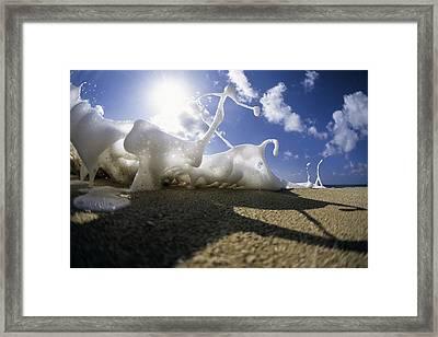 Marching Foam Framed Print by Sean Davey