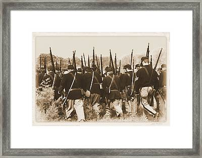 Framed Print featuring the photograph Marching Into Battle by Judi Quelland
