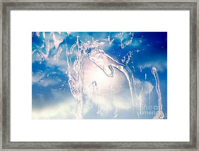 Marching On The Alien Moon Framed Print by Sherri's Of Palm Springs