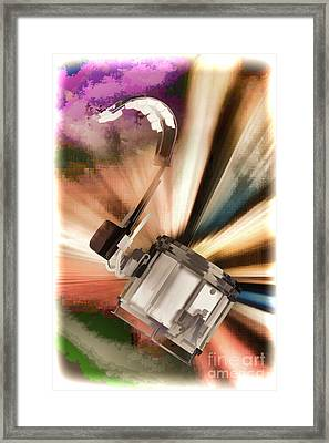 Marching Snare Drum Music Painting In Color 3328.02 Framed Print