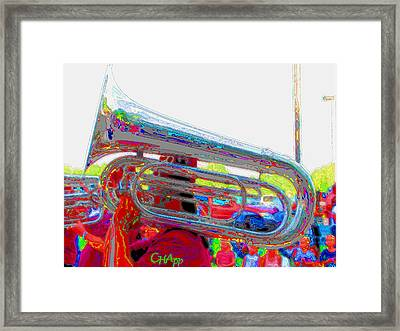 Marching Tuba Framed Print by C H Apperson
