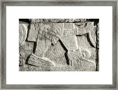Marching Warrior Framed Print by Charline Xia