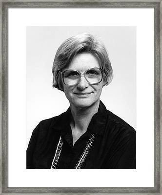 Marcia Neugebauer Framed Print by Emilio Segre Visual Archives/american Institute Of Physics