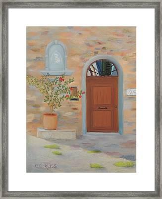 Marcialla Courtyard Framed Print