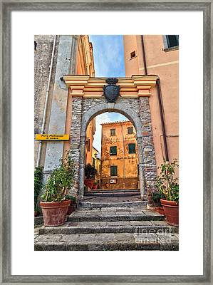 Marciana - Ancient Gate Framed Print by Antonio Scarpi