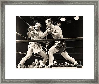 Marciano - Walcott Framed Print by Pg Reproductions