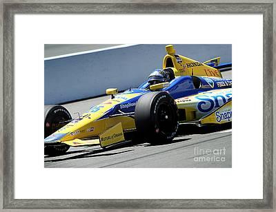 Marco Andretti Pit Lane Framed Print by Bryan Maransky