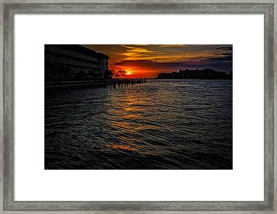 Marco Island Sunset 43 Framed Print by Mark Myhaver