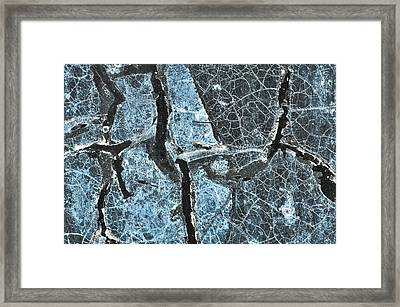 Marco Of Tape On Window Framed Print by James Steele